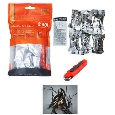 SOL  All-Weather Survival Fire Cubes with Fire Lite Firestarter
