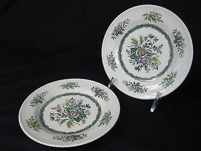 2 Vintage Wood & Sons Rosedale Dessert Plates Includes Fast Shipping