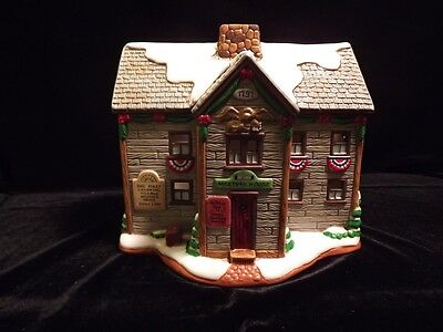 Lefton Colonial Village Meeting House 10Th Anniversary Commemorative Set - New