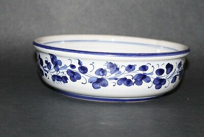 Deruta Italy - Soup / Cereal Bowl - ONE - 1 - Blue Bird Hand Painted - 7 1/4""