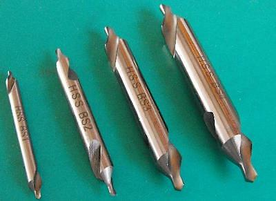 Gloster SET-4 Centre Drill Set consists 1 each BS1,2,3 and 4 drills