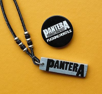 PANTERA Pin & Necklace Signed Philip Anselmo Cowboys From Hell 1990 Vintage Phil