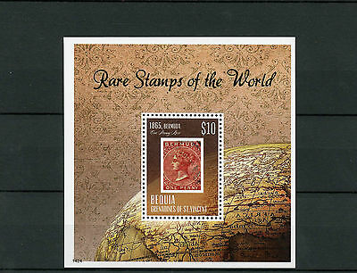 Bequia Grenadines St Vincent 2014 MNH Rare Stamps World 1v SS Bermuda Penny Rose