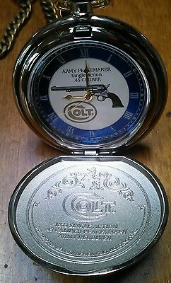 1873 Colt Army Revolver Peacemaker .45 caliber Pocket Watch with leather holster
