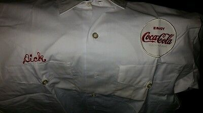 Vintage 1960's Coke Coca Cola Uniform Shirt
