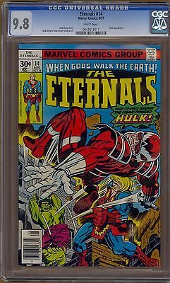Eternals #14 CGC 9.8 White Pages Hulk Appearance