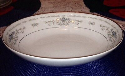 "Wade Fine Porcelain China Diane Pattern Large Oval Serving Dish Bowl 8"" x 10.5"""