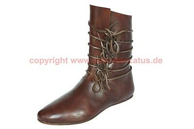 Mittelalter Stiefel 13 Jhd. Maß Schuhe medieval custom shoes reenactment larp