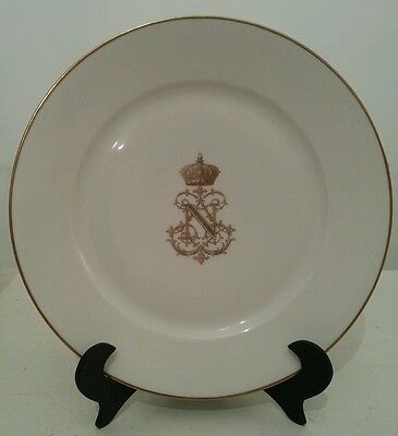 Antique Napoleon III Emperor France Sevres Gilded Table Plate perfect condition