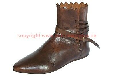 Schuhe Stiefel Mittelalter Larp Boots Shoes Medieval Halbstiefel 14. Jh