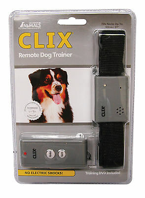 Clix Remote Control Dog Collar Trainer No Bark Collar Control Unwanted Behaviour