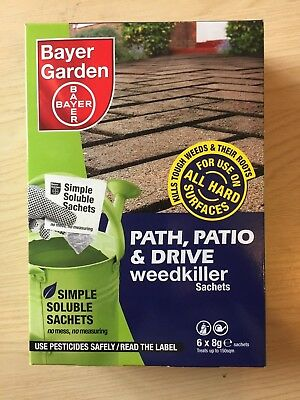 Bayer Garden Path & Drive Weedkiller - Strong Weed Killer 6 sachet (GREAT PRICE)