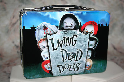 Living Dead Dolls Metal Tin Lunch Box Pail Tote Mezco 2002  New Gothic Horror #2