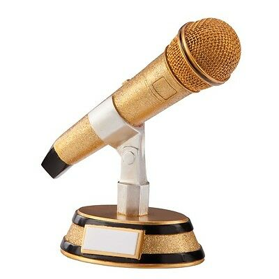 Microphone Karaoke Music Singing Star Award Trophy Engraved With Any Message