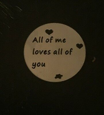 All of me loves all of you Stainless Steel Charms Quantity Options BFS1800