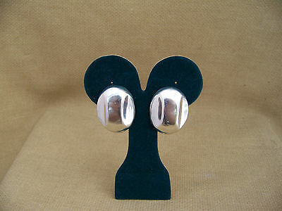 Vintage Signed Sterling Silver  Taxco Clip on Earrings