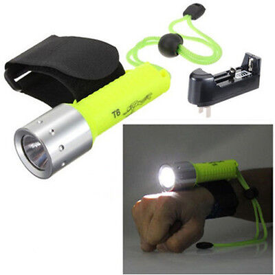 1700LM Underwater CREE XM-L T6 LED Diving Flashlight Lamp Torch 50M Waterproof