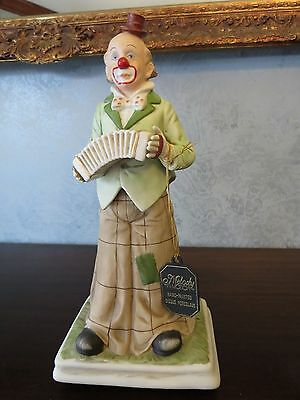 VINTAGE MUSICAL MELODY IN MOTION HOBO CLOWN PLAYING ACCORDION