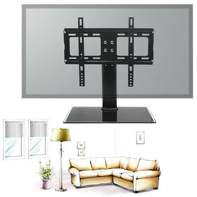"""Flat Panel TV Stand Integrated Mount Glass Shelves 26 to 32"""" for Samsung Sony LG"""