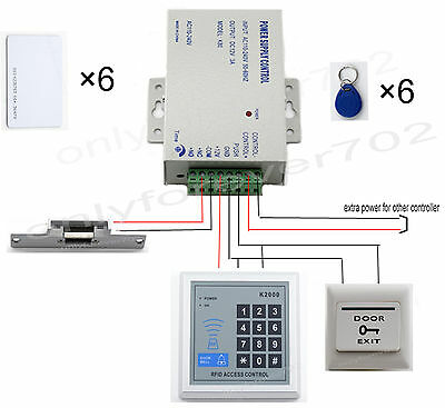 Rfid Card Door Access Control Kit With Electric Strike Lock Home Complete DIY