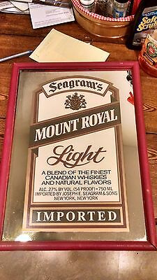 Seagrams Mount Royal Light Mirror Sign