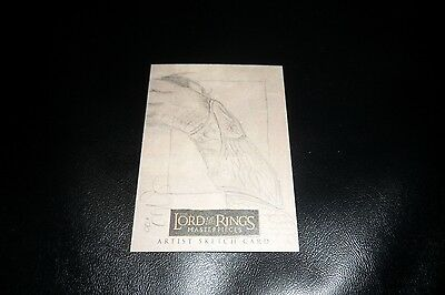 Lord of the Rings Masterpieces Topps Sketch Card by Leah Mangue 1/1