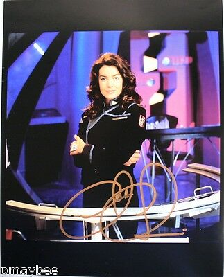 "Autographed 8""x10"" Claudia Christian Photo as Susan Ivanova - BABYLON 5"