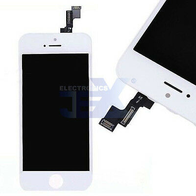 White iPhone 5S Full Front Digitizer Touch Screen and LCD Assembly Display