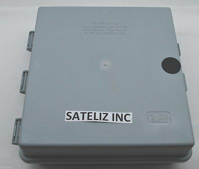 "9""x9""x3"" OUTDOOR CABLETEK ENCLOSURE PLASTIC GRAY CASE UTILITY CABLE BOX CTE-S"
