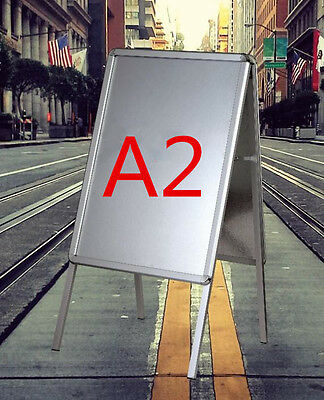 New A2 A-Board Pavement Sign Poster Snap Frame Waterproof Sign Display Stands