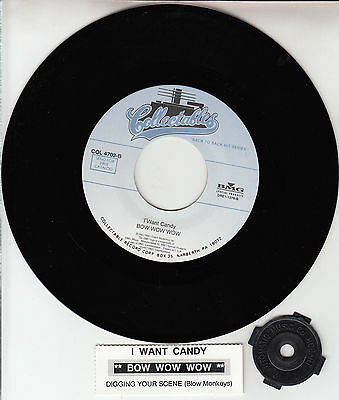 BOW WOW WOW  I Want Candy & BLOW MONKEYS Digging Your Scene 45 record  NEW RARE