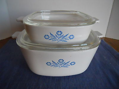 Set of 2 Corning Ware Casserole with Lid - 1 QT and 2 1/2 QT