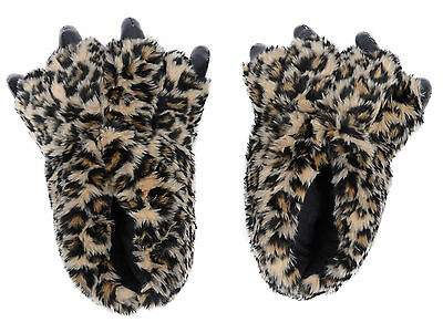 Unisex Cosplay Winter Warm Soft Plush Home Indoor Slippers Cartoon Paw Shoes