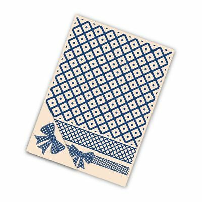 Brand New TATTERED LACE 'LATTICE BOW' 4 Piece Embossing Folder EF009 Christmas