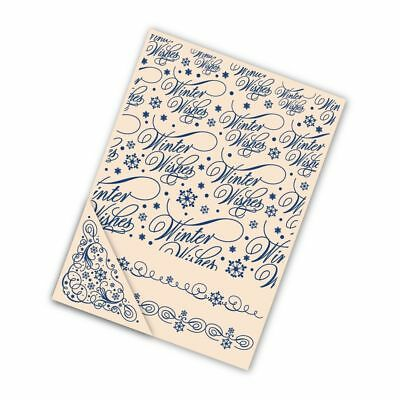 Brand New TATTERED LACE 'WINTER WISHES' 4 Piece Embossing Folder EF010 Christmas