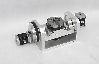 3-Jaw Chuck 4th&5th Axis Rotational H Style CNC Engraving Machine Rotary Table