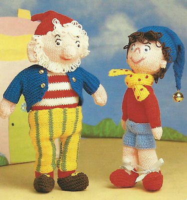 Noddy Doll Knitting Pattern : Vintage Knitting Pattern Noddy and Big Ears Toys