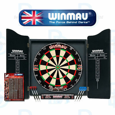 Winmau Professional Dart Package - Blade 4 - Darts - Cabinet - Oche - Checkout