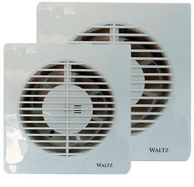 """White 4"""" 100mm - 6"""" 150mm Extractor Fan Standard / Timer Bathroom Wall / Ceiling"""