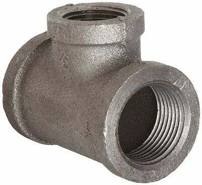 """Anvil 8700121604 Malleable Iron Pipe Fitting  Reducing Tee  1"""" x 1"""" x 3/4"""" NPT F"""