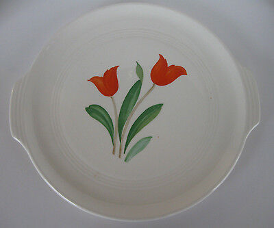 Vintage Knowles Utility Ware Plate/Platter Tulip Design