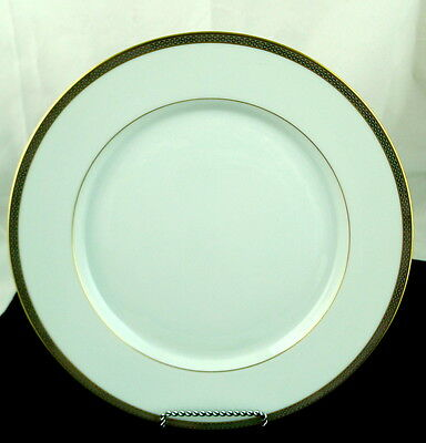 Hutschenreuther White Dinner Plate Gold Decorated Rim - Germany - Not numbered