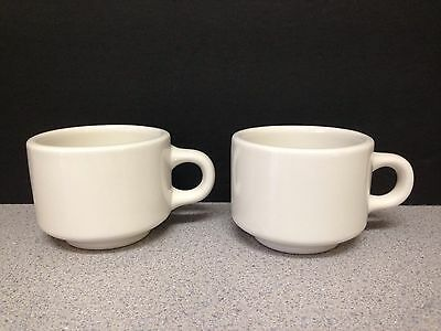 Set of 2 Vintage Homer Laughlin China Stackable Coffee Cups Restaurant Ware