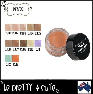 NYX CONCEALER JAR #CJ FULL COVERAGE for Dark Circle Blemish Orange Yellow Green