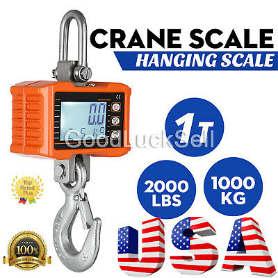 1000KG 1Ton 2000 LBS Digital Crane Scale Heavy Duty Hanging Scale OCS-S from US
