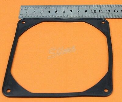 2x 120mm Anti Vibration Flexible Rubber Silicone Frame Pad For 12cm PC Fan