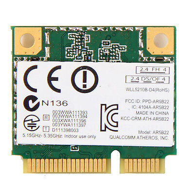 Atheros AR5B22 Dual Band 300M Wireless Wifi N+Bluetooth 4.0 PCI-E Combo Card