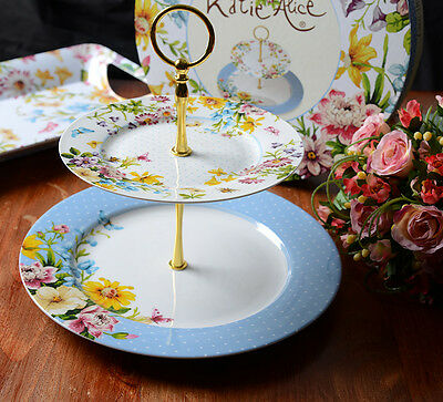 Creative Tops Katie Alice English Garden Two Tier Porcelain Cake Stand