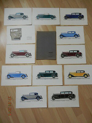 catalogue TALBOT 6 cyl K 78 & 8 cyl H 78
