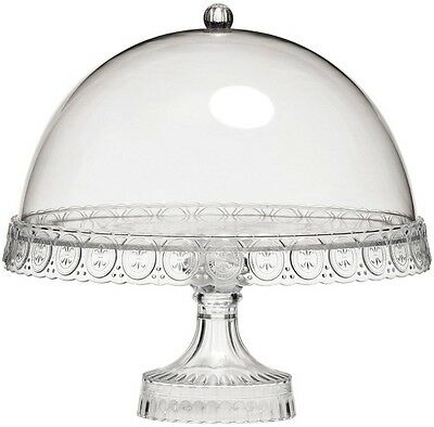 Dome Lid Clear Acrylic Cake Stand Home Birthday Wedding Parties Display Unit